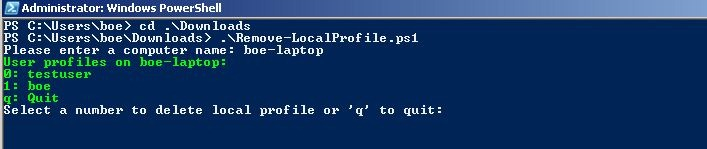 Use PowerShell to remove local profiles | Learn Powershell | Achieve