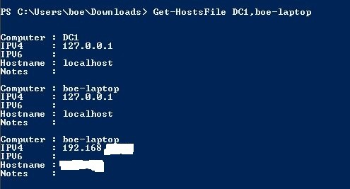 Retrieving contents of Hosts file using PowerShell | Learn