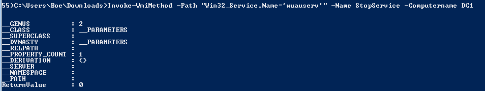 how to stop service in powershell