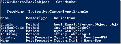 Working With Custom Types of Custom Objects In PowerShell