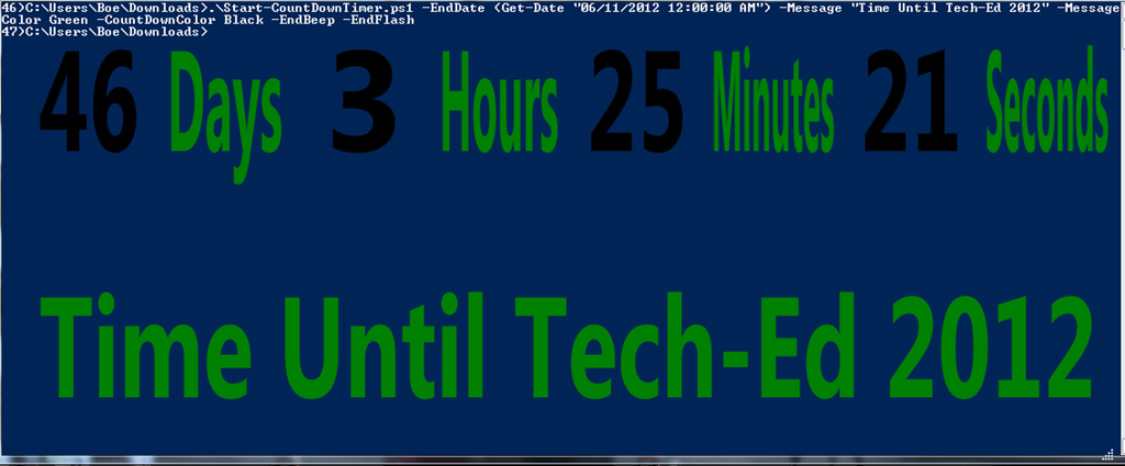 Yet Another Countdown Timer Using PowerShell | Learn