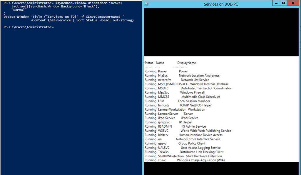 PowerShell and WPF: Writing Data to a UI From a Different