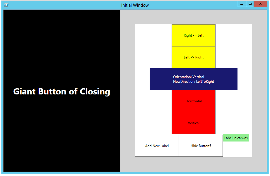 You Will Also See That I Added A Canvas Is Nested Underneath 2 StackPanels Just To Show