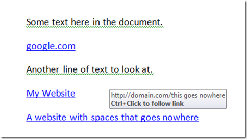 Fix Spaces in Hyperlinks That Exist in a Word Document | Learn