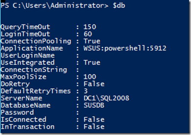 Use the WSUS API and PowerShell to query the SUSDB Database | Learn