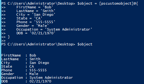 quick hits set the default property display in powershell on custom