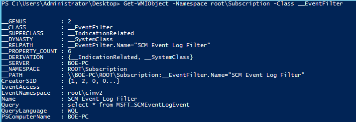 PowerShell and Events: Permanent WMI Event Subscriptions