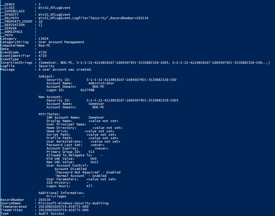 PowerShell and Events: WMI Temporary Event Subscriptions