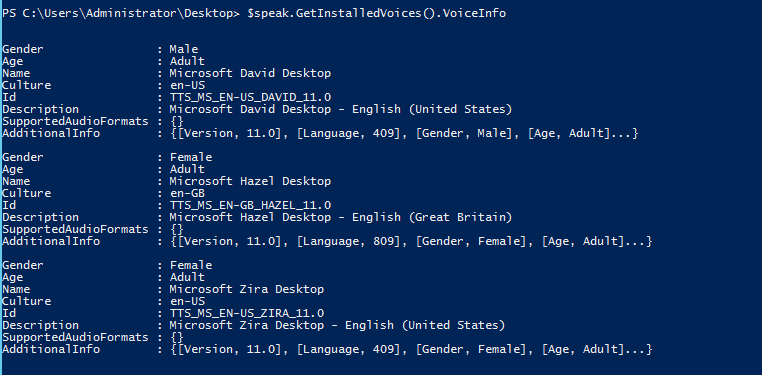 Give PowerShell a Voice Using The SpeechSynthesizer Class