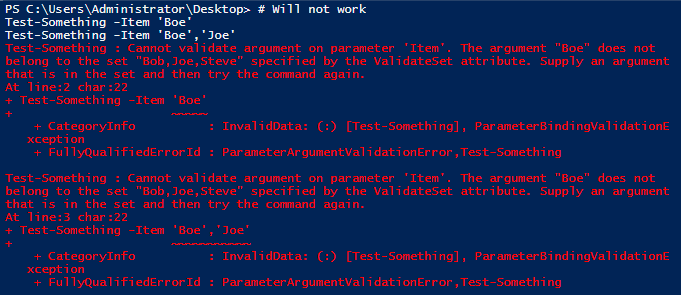 Using PowerShell Parameter Validation to Make Your Day Easier