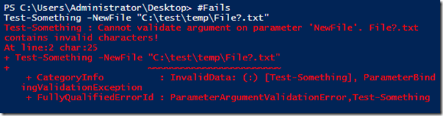 Using PowerShell Parameter Validation to Make Your Day