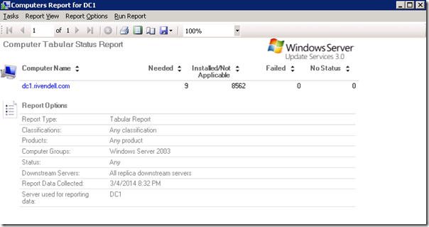 WSUS Reporting: Digging Into Target Groups and Update