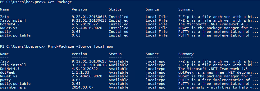 Setting Up a NuGet Feed For Use with OneGet (now PackageManagement