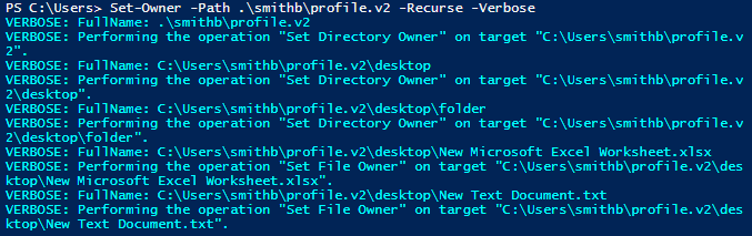 Changing Ownership of File or Folder Using PowerShell
