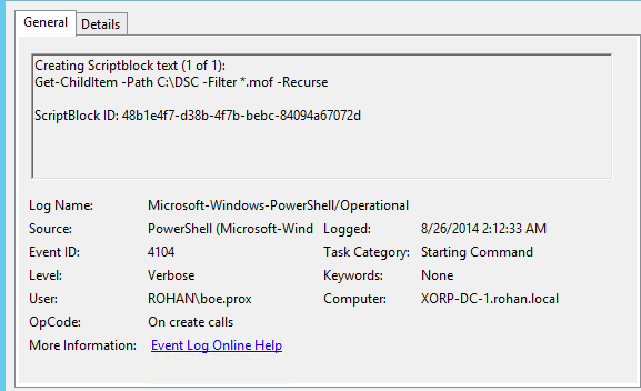 More New Stuff in PowerShell V5: Extra PowerShell Auditing