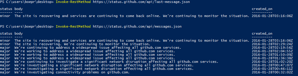 Quick Hits: Tracking The Status of GitHub Using PowerShell | Learn