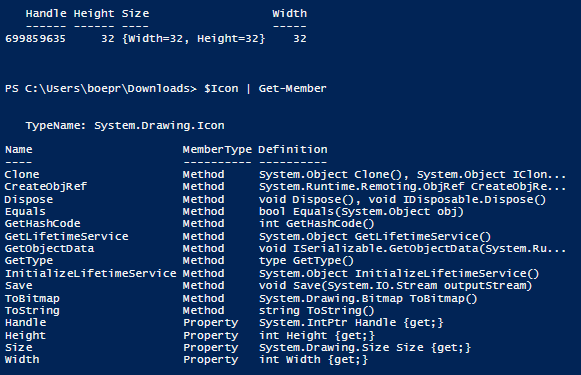 Getting the Icon from a File Using PowerShell | Learn Powershell
