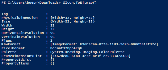 Getting the Icon from a File Using PowerShell | Learn