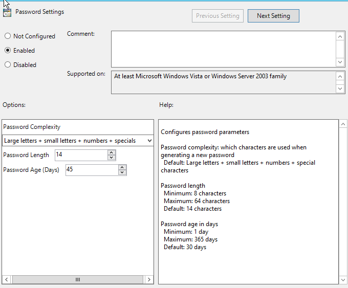 Setting up Local Administrator Password Solution (LAPS